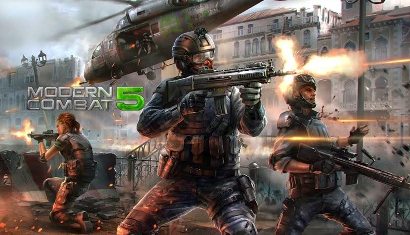 كۆتا وهشانی یاری بۆ سیستهمی ئهندرۆید و ئای ئۆ ئێس  Modern Combat 5 Blackout v1.7.0