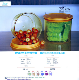 Info & Harga Twin Tulip Tulipware 2014 : Small Cookie Jar - Medium Cookie Jar