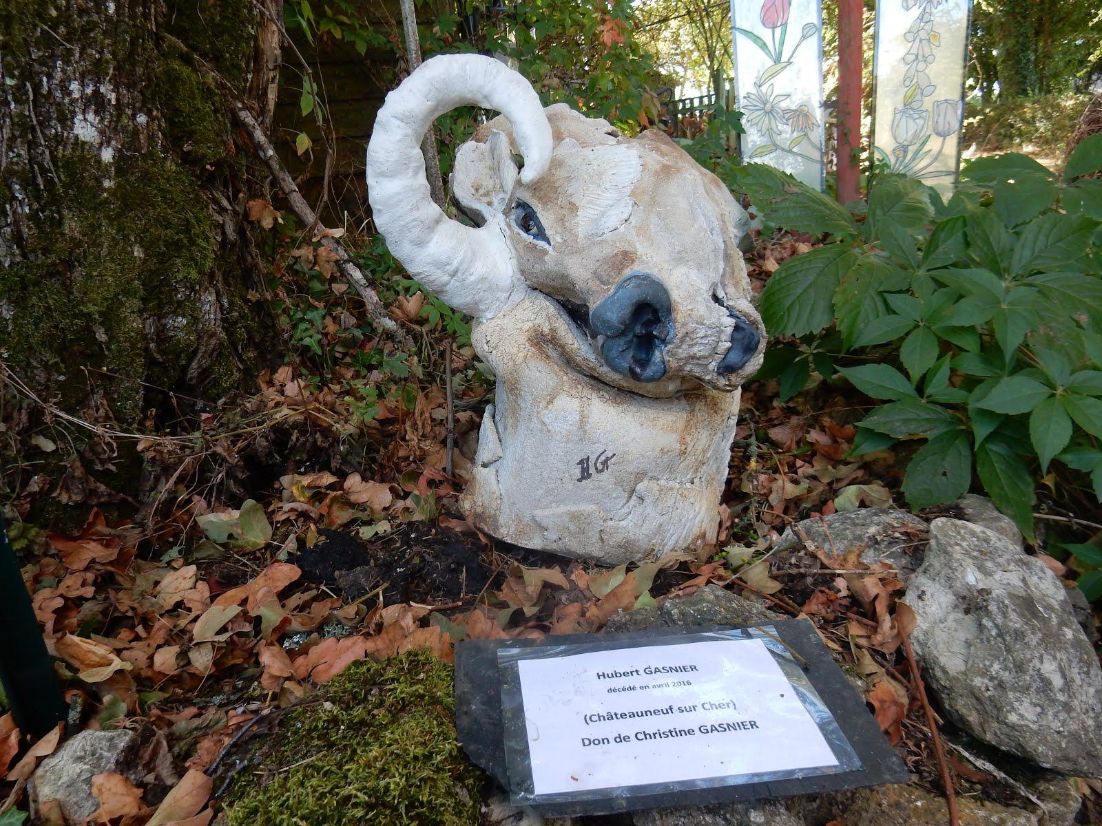 Tête de buffle étrangement présentée par Hubert Gasnier