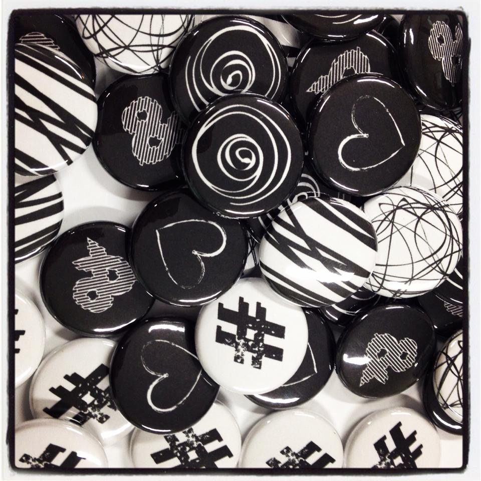 Badges Noir & Blanc
