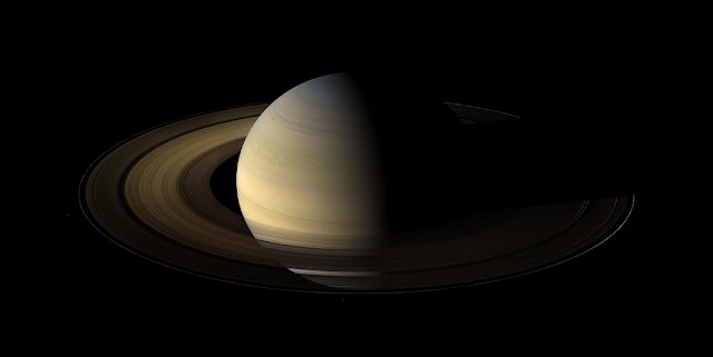 Of the countless equinoxes Saturn has seen since the birth of the solar system, this one, captured here in a mosaic of light and dark, is the first witnessed up close by an emissary from Earth ... none other than our faithful robotic explorer, Cassini. Credit: NASA/JPL/Space Science Institute