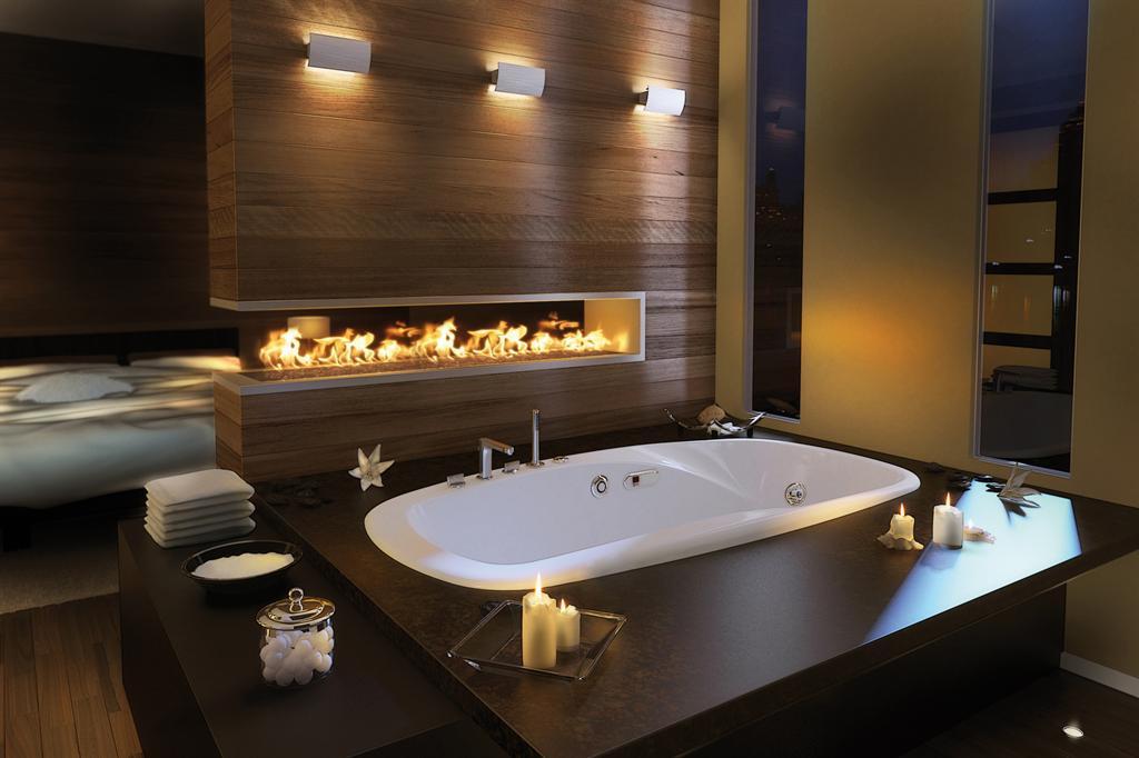 decorando casas Idéias de design contemporâneo banheiro