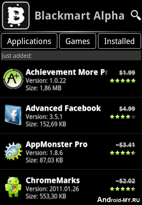 black android market apk