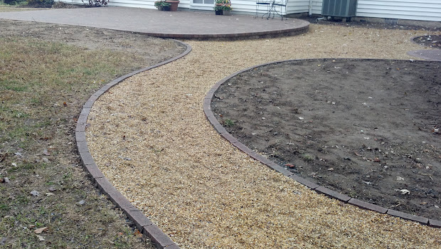 Bon Patio With Pavers And Pea Gravel