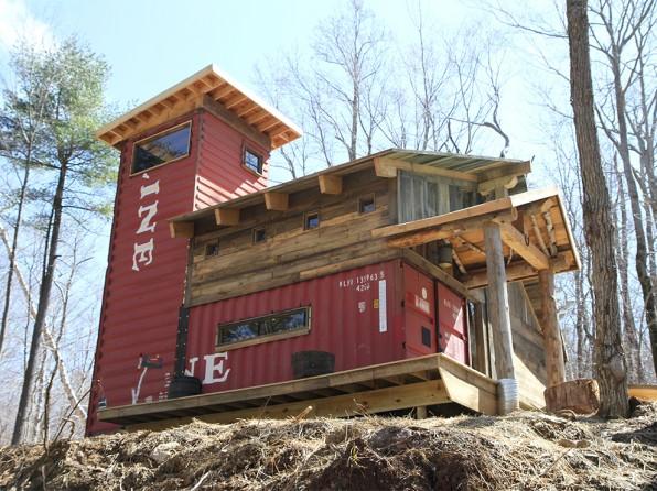 Casas contenedores casa construida con contenedores y madera - Contenedores para casa ...
