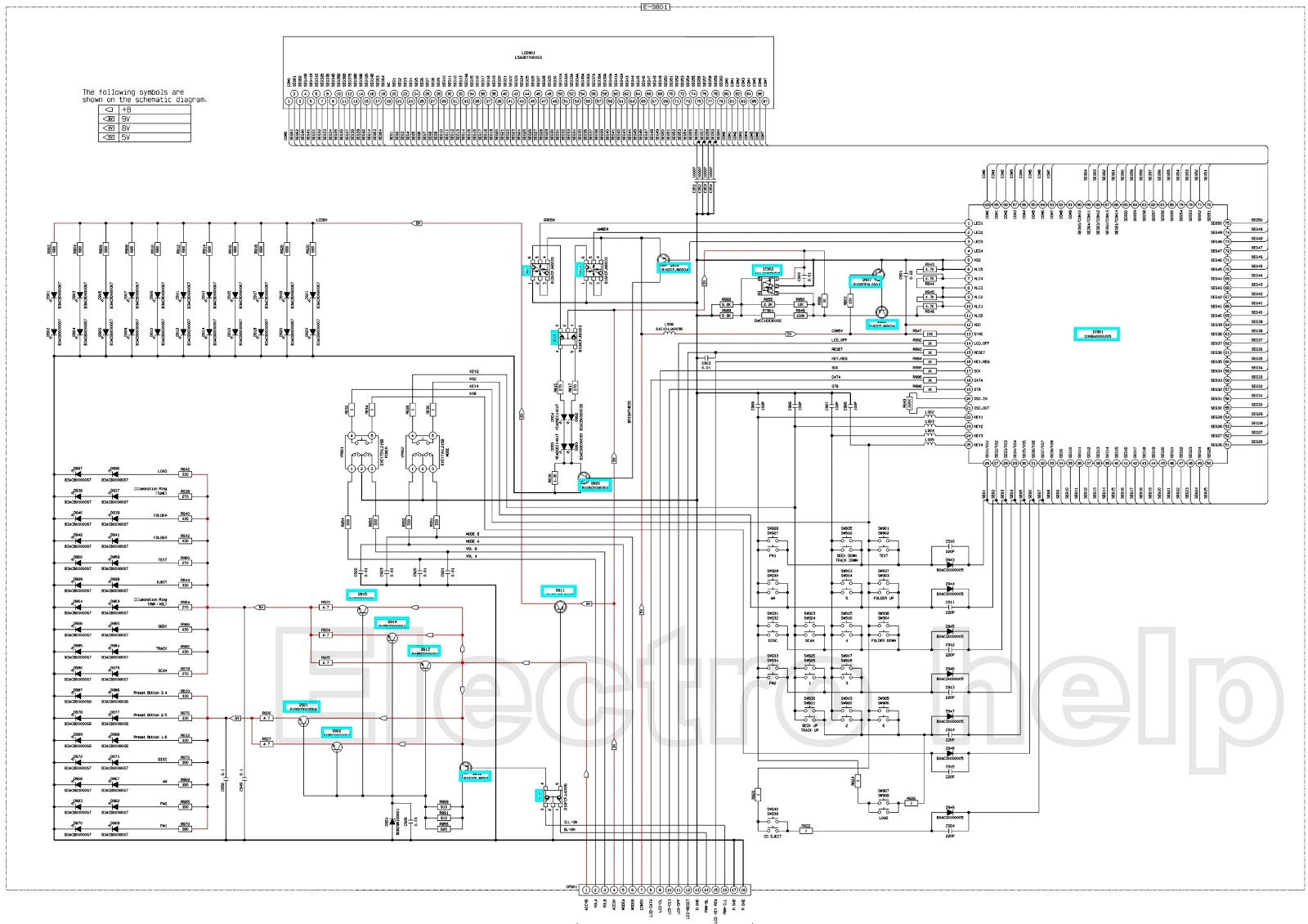 Toyota Corolla Cq Es7880az Circuit Diagram And Connection Details Also Headset Lifier Test Simplified Schematic Diagrams Main Block Display Click On The Schematics To Zoom In