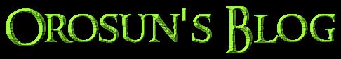 Orosun's Blog