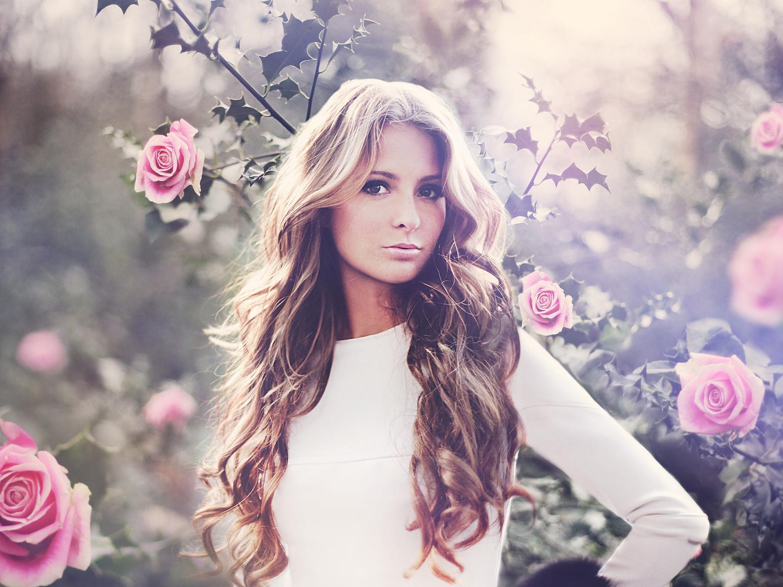 Imagenes bonitas para perfil de facebook Imágenes  - Imagenes De Mujeres Con Rosas Hermosas