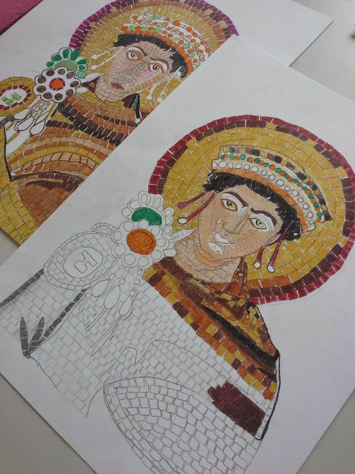 Due ore di arte dicembre 2014 for Disegni per mosaici da stampare