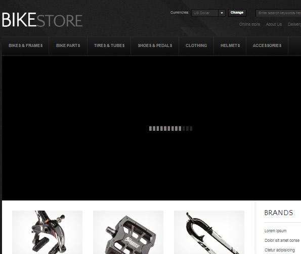 Ecommerce Site Name : Bike Store