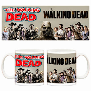 Taza Walking Dead Comic Vs Serie