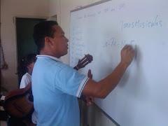 El Profesor Angel Cordero en las Practicas de Aguinaldos