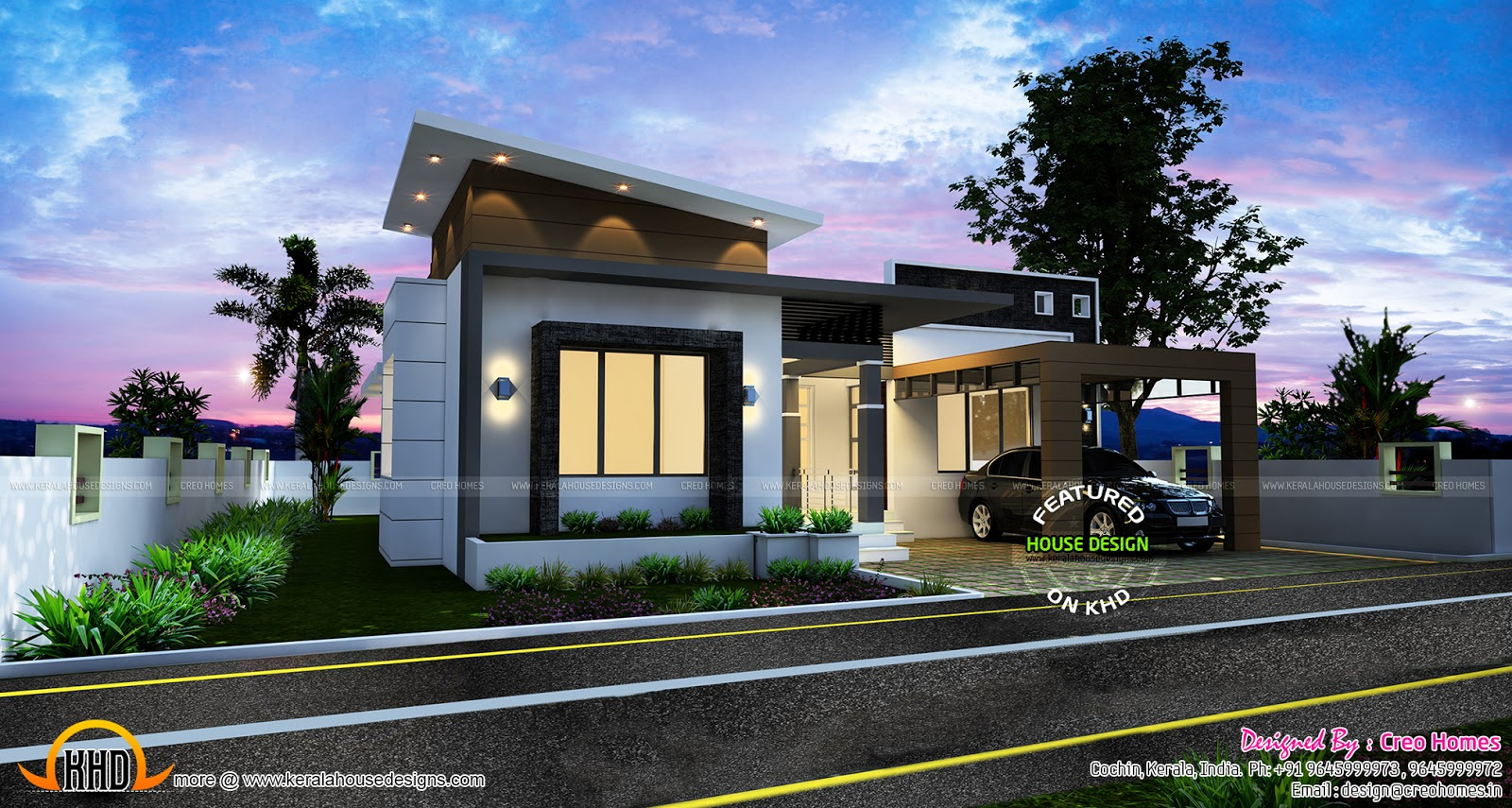 3 beautiful small house plans kerala home design for Beautiful small house plans in kerala