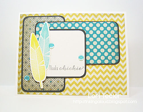 Thanks Chickie card-designed by Lori Tecler/Inking Aloud-stamps and dies from Waltzingmouse Stamps