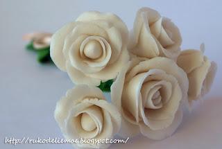 розы, холодный фарфор