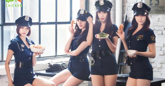 Girl's Day are sexy policewomen in BHC Chicken BTS video