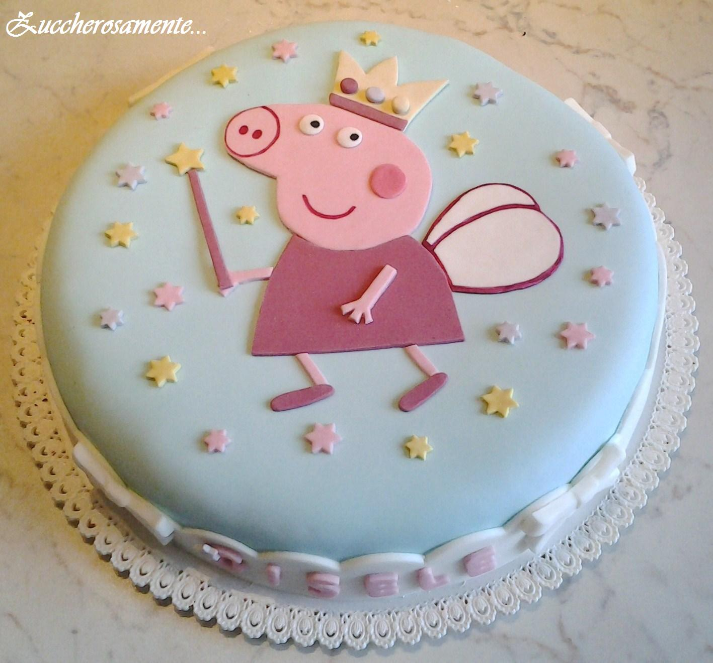 Детский торт своими руками. Торт со свинкой Пеппой 7
