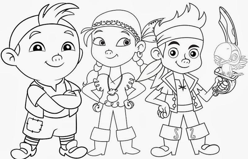 Desenhos para colorir Jake e os Piratas da Terra do Nunca