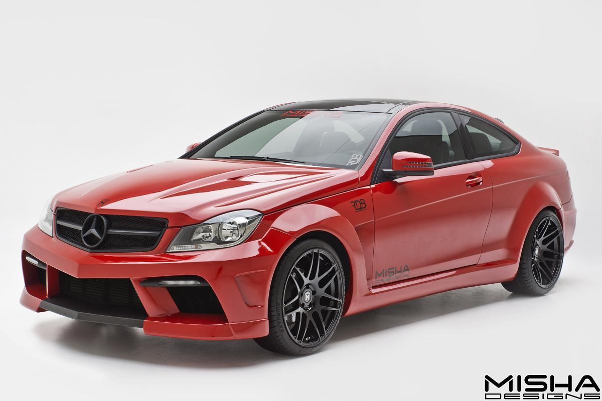 davide458italia mercedes benz c class coupe by misha designs
