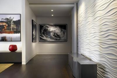 Dise o de interiores con paredes de textura decoracion for Diseno de paredes interiores