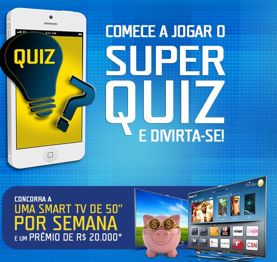 Jogue o Super Quiz da TIM e concorra a R$ 46.000,00 em prêmios.