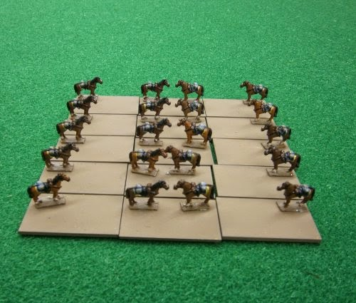 Dismounted cavalry stands