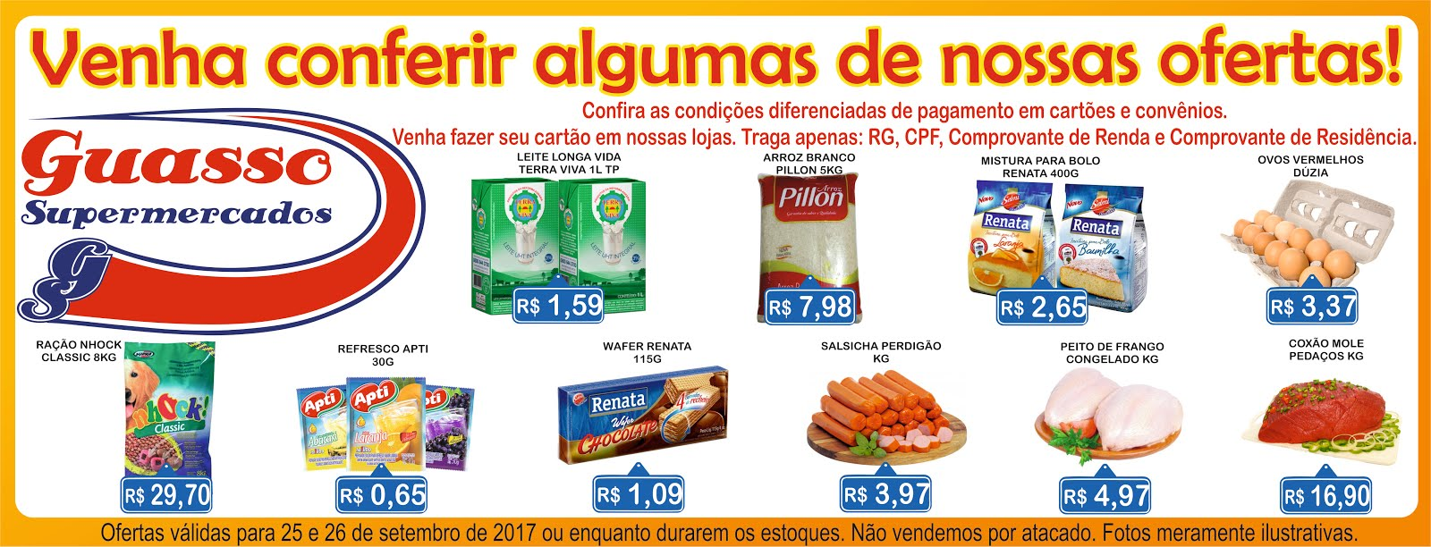 Confira algumas ofertas do Guasso Supermercados!!!