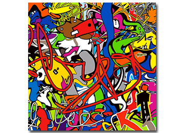 abstract, multi coloured, graffiti style, wall art, canvas art, canvas print, art,