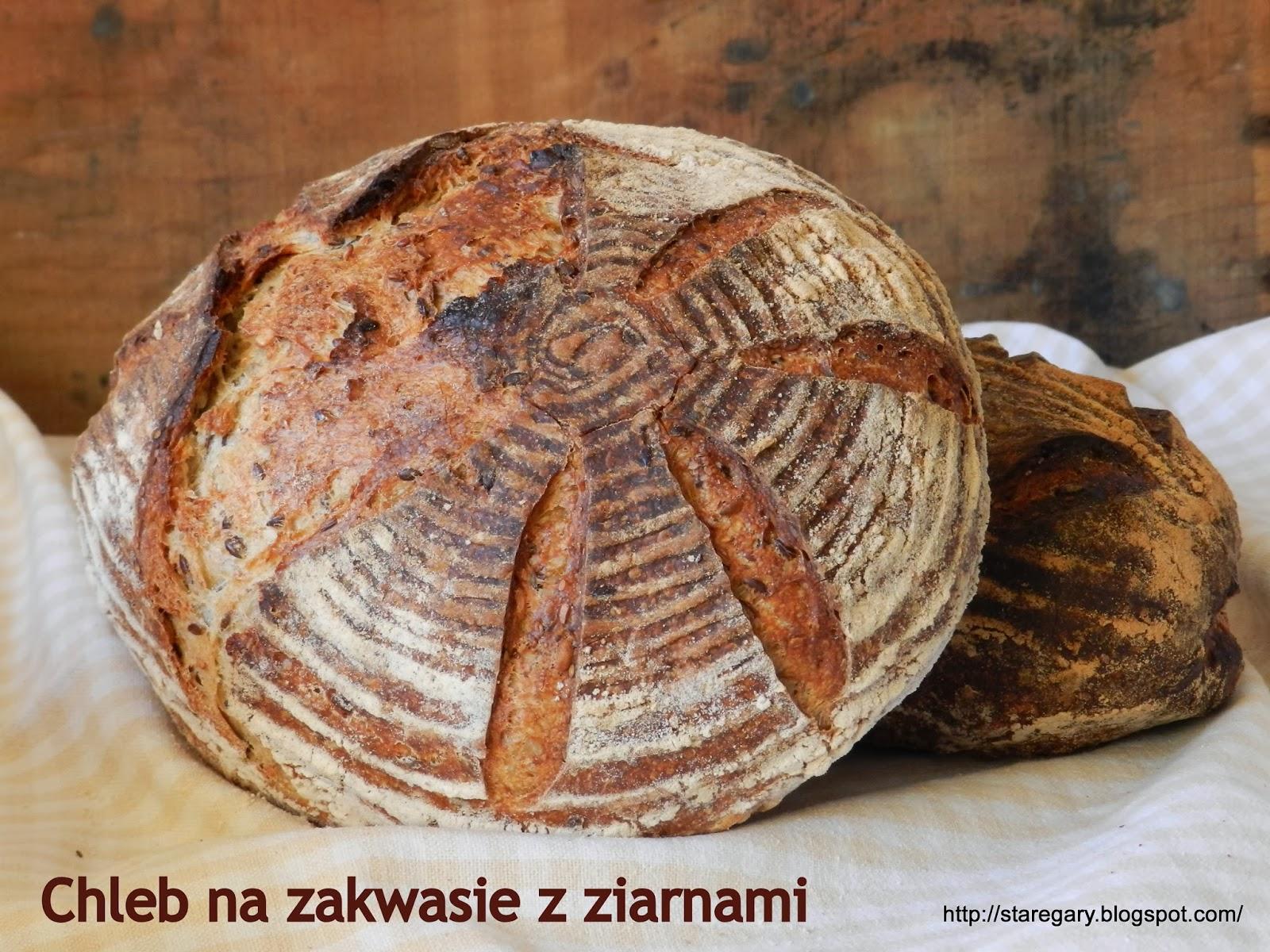 Chleb na zakwasie z ziarnami Hamelman'a