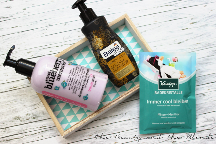 DM Lieblinge April 2015 Produkte, Treaclemoon Bodylotion, Balea Handcreme, Kneipp Badekristalle