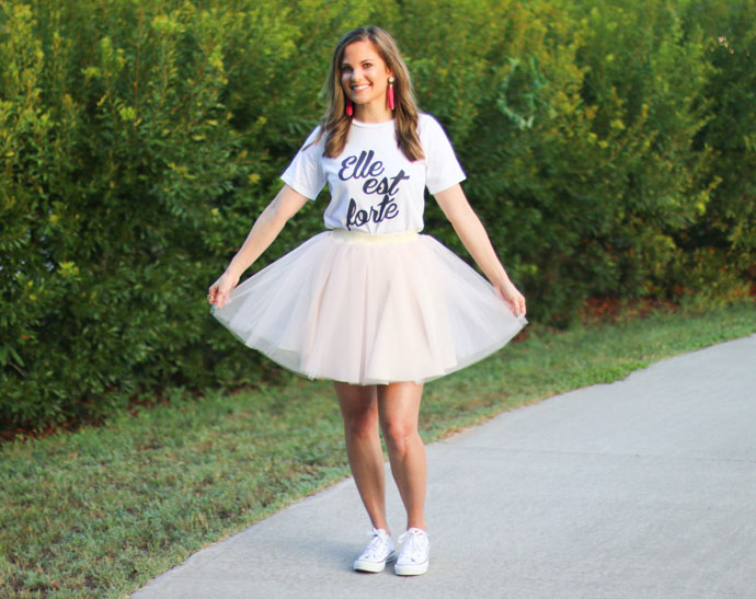 she is clothing t-shirt bliss tulle skirt