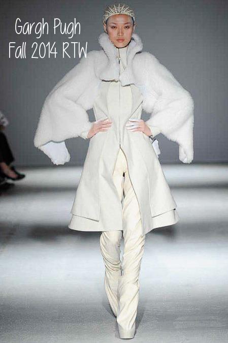 gareth pugh, paris fashion week, fw2014, white after labor day
