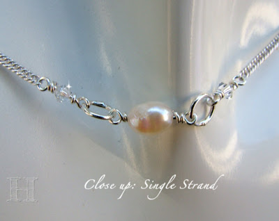 Short Single Strand Necklace - Swarovski Simple Elegance