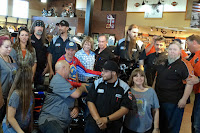 Kyle Petty Poses with  Dealership Staff #KPCHARITYRIDE