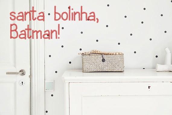 bolinhas na parede - parede estampada - pintura diferente - faça você mesmo