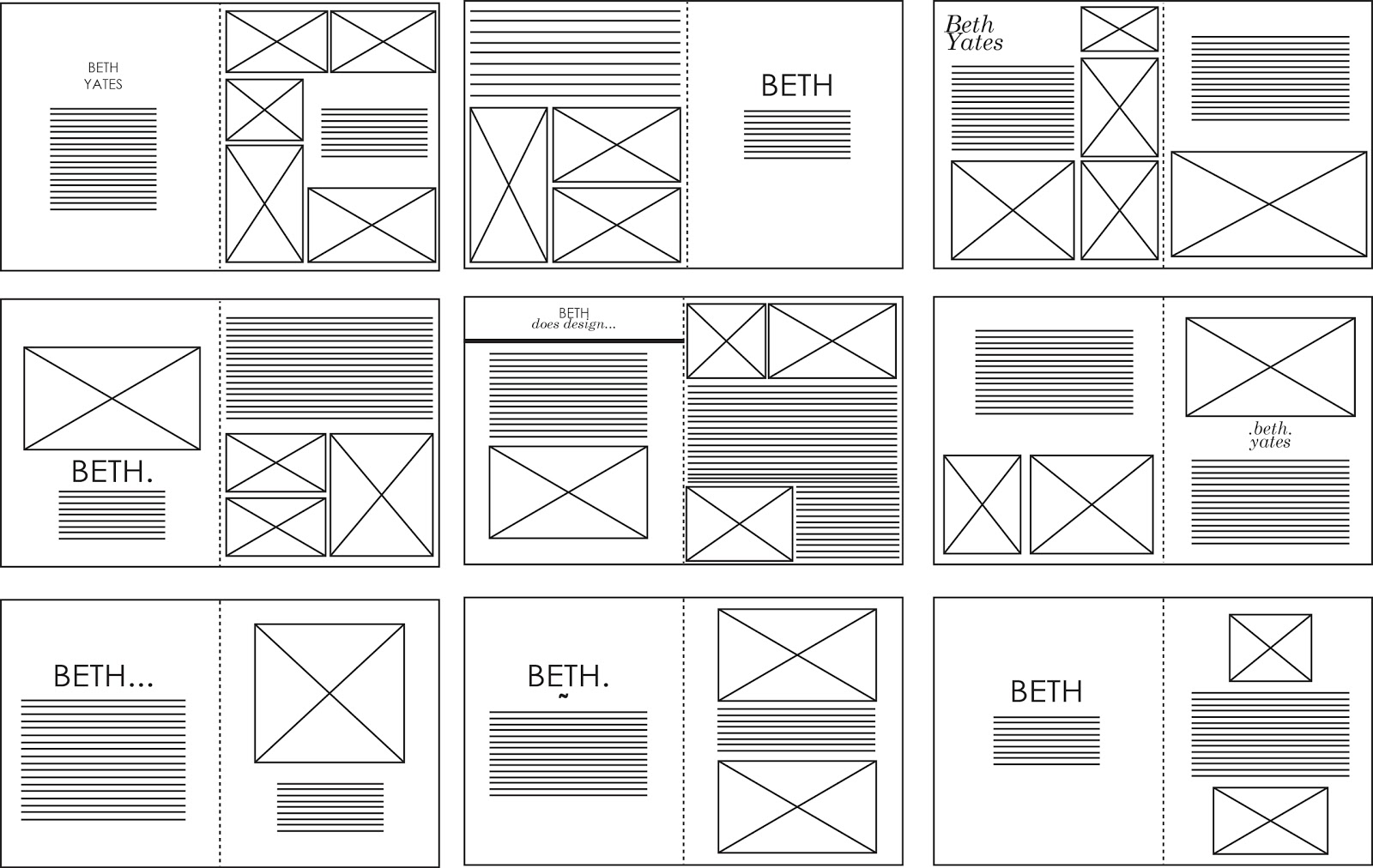 sophie wilson design practice indesign layouts vectored. Black Bedroom Furniture Sets. Home Design Ideas