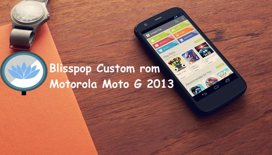 Blisspop custom rom on Motorola Moto G 2013 falcon XT-1031