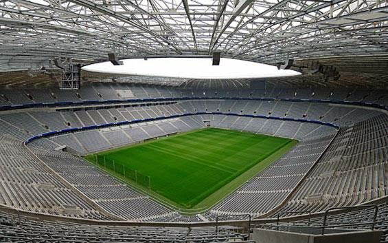 Interior del Allianz Arena en Munich