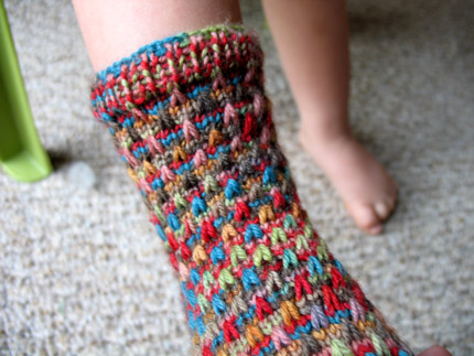 Free Knitting Pattern: Raindrop Socks