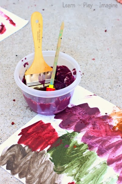 Mud paint recipe - Simple to make colored mud paint.