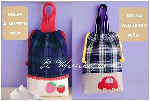 El minihogar - Bolsas de tela para ninos ...
