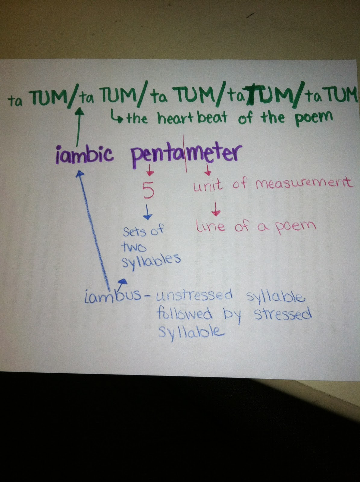 iambic pentameter definition the image