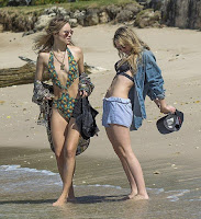 Immy Waterhouse, 21, decided to invade the Barbados coastline with her female friend on Sunday, December 27, 2015.