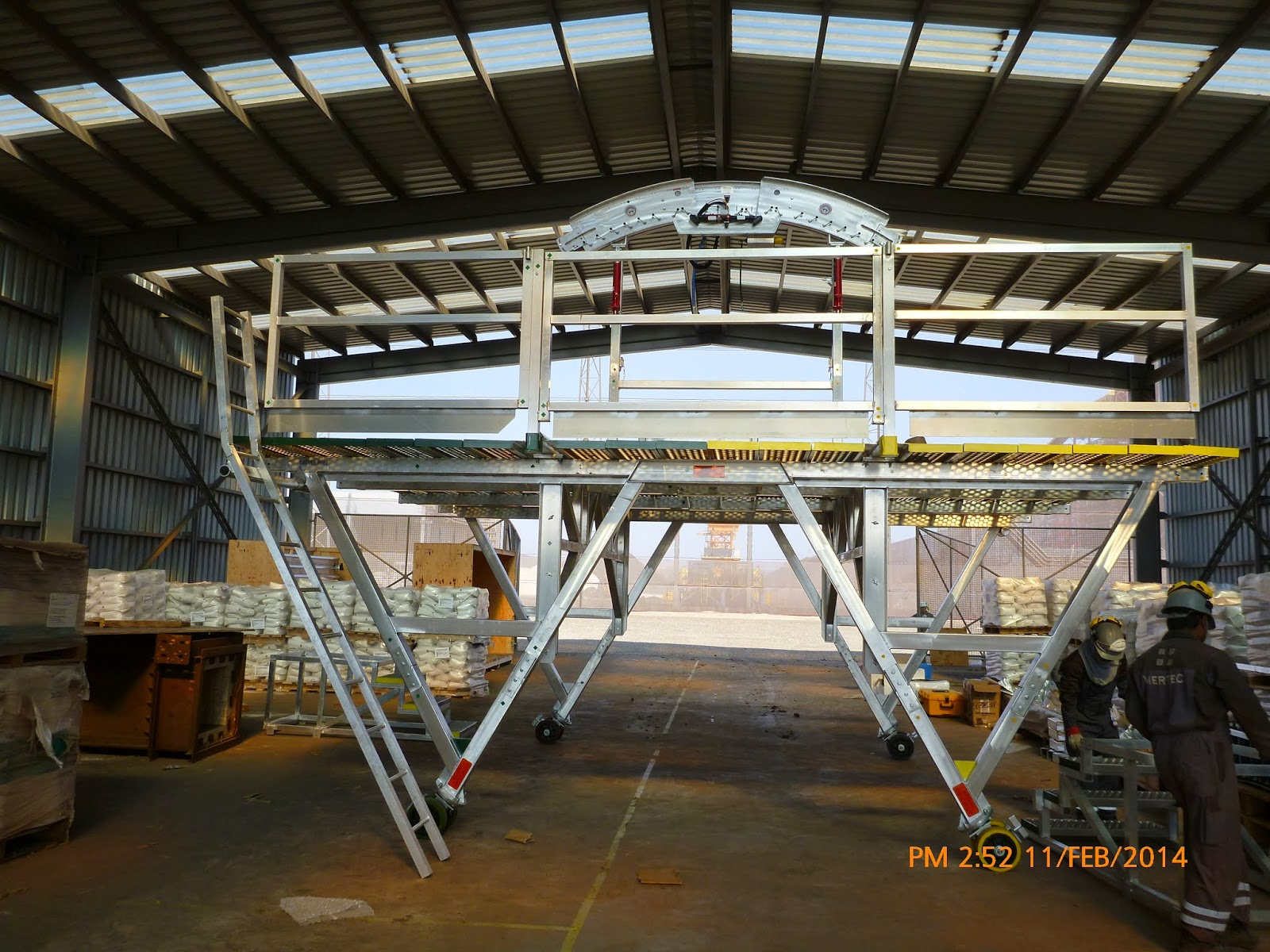 Center arch properly placed on top of the bricking machine platform