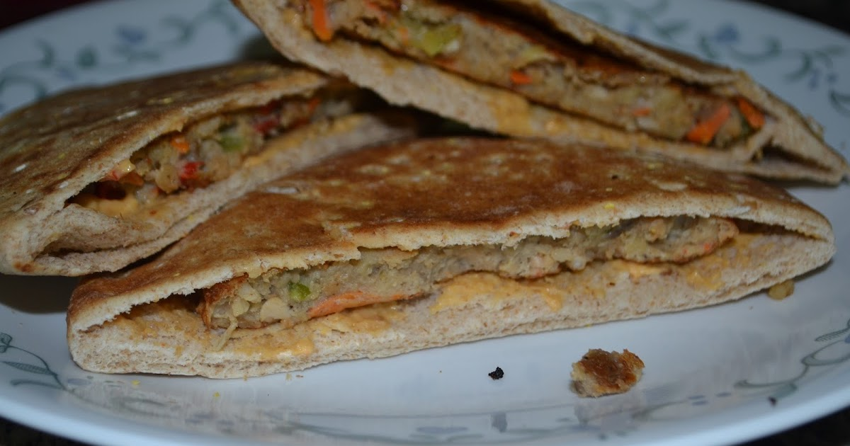 Indian Cooking: Pita Pockets with Veggie patti filling