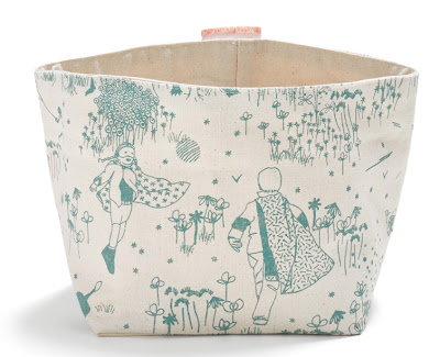 toile storage bin, cotton-canvas