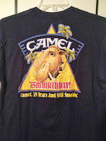 vintage camel n smokin t-shirt- made in usa