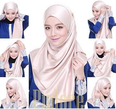 Contoh Cara Memakai Jilbab Pashmina Glitter Update