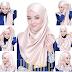 Contoh Cara Memakai Jilbab Pashmina Glitter 2016