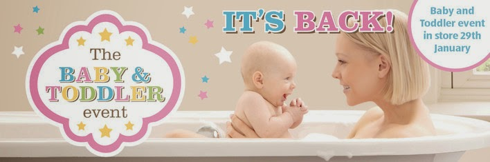 Aldi's Baby & Toddler Specialbuys range  available in store on 29th January